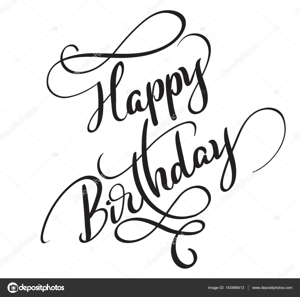 Happy Birthday Words Isolated On White Background
