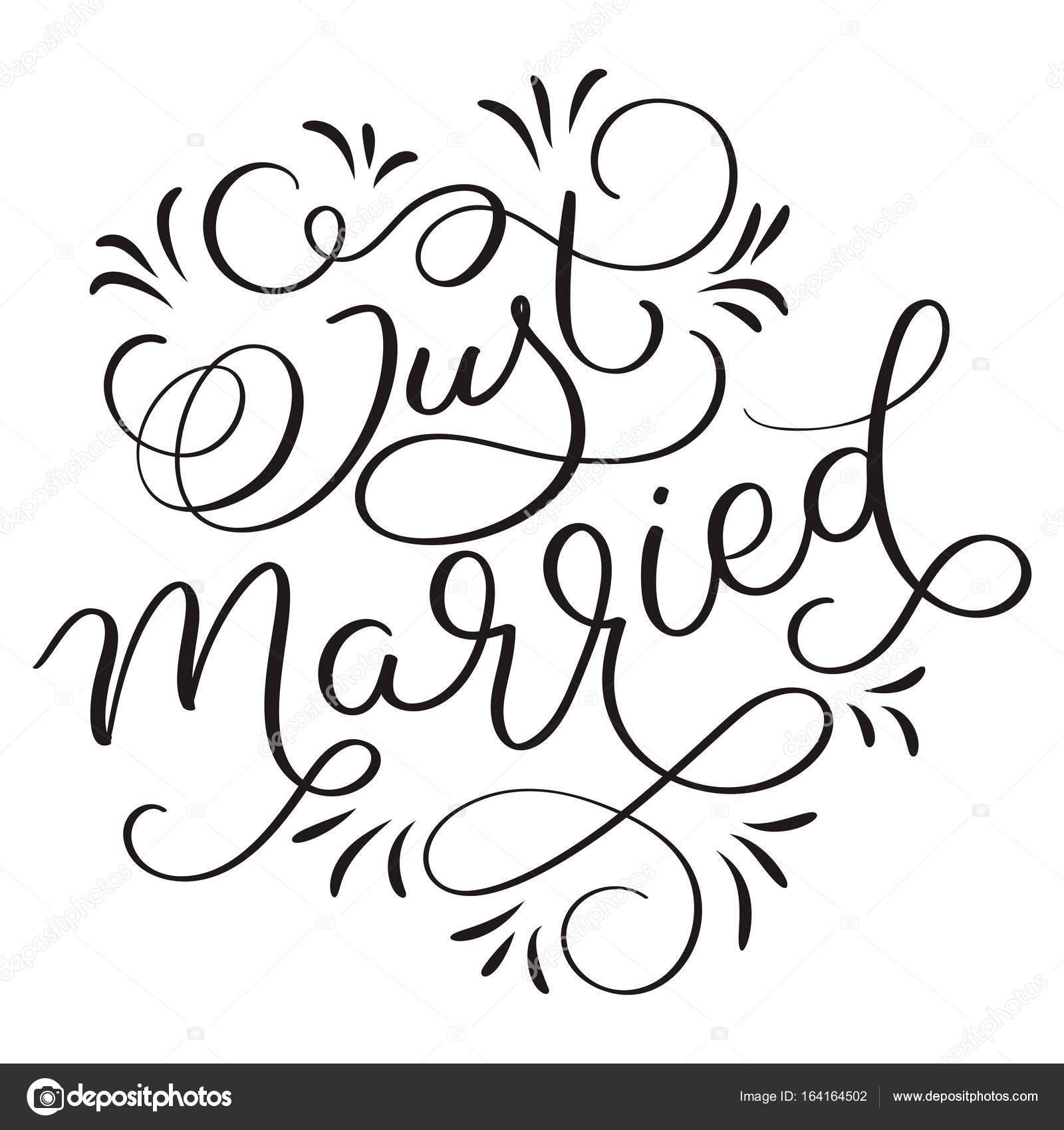 Kleurplaat Just Married • Kidkleurplaat.nl