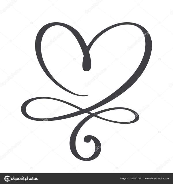 heart love sign . infinity