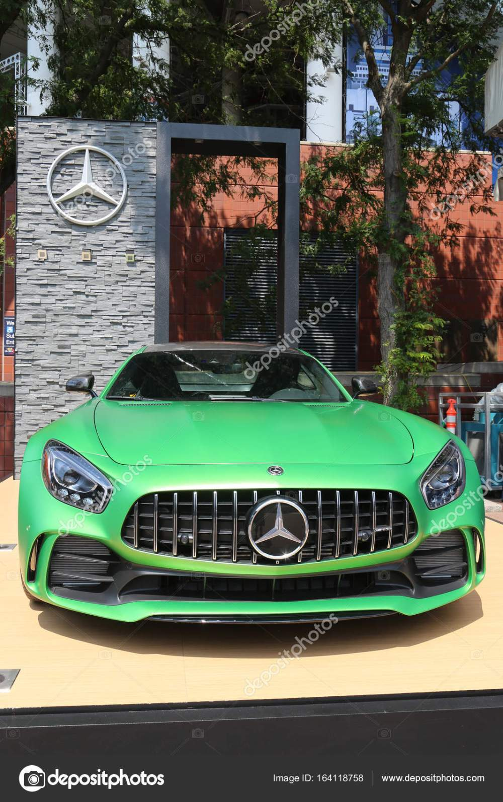 medium resolution of mercedes benz amg on display at national tennis center during us open 2017 stock