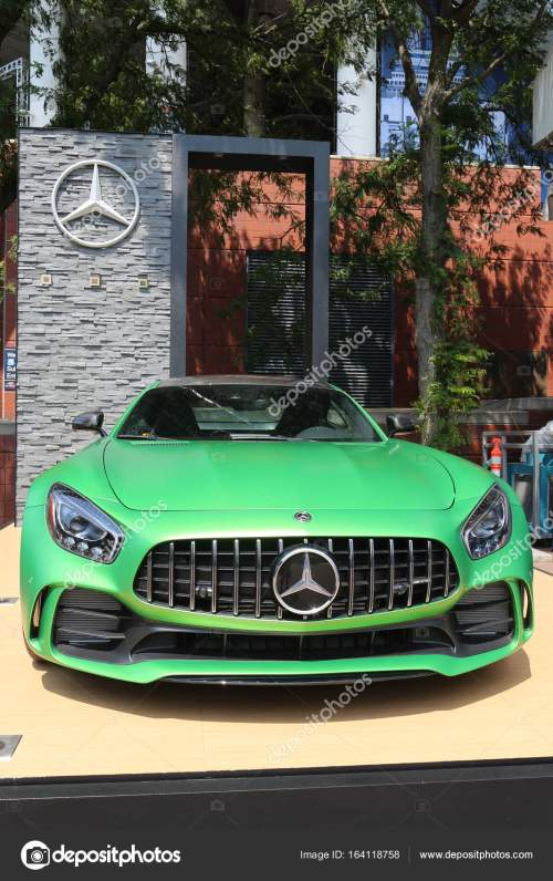 small resolution of mercedes benz amg on display at national tennis center during us open 2017 stock