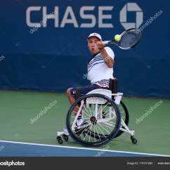Wheelchair Quad Buy Chair Covers Edmonton Tennis Player Andrew Lapthorne Of Great Britain In Action During His Singles Semifinal