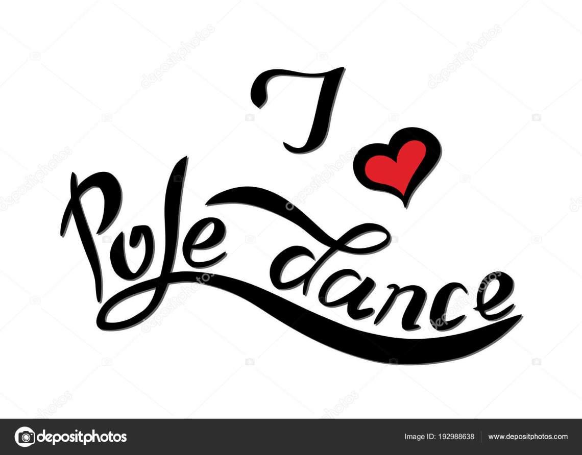 Download Vector lettrage J Love dance pole — Image vectorielle ...