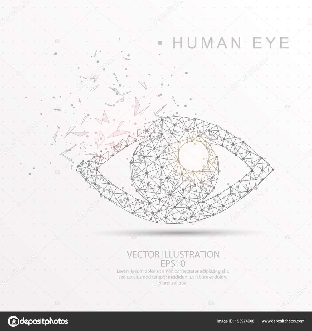 medium resolution of eye shape digitally drawn low poly wire frame stock vector