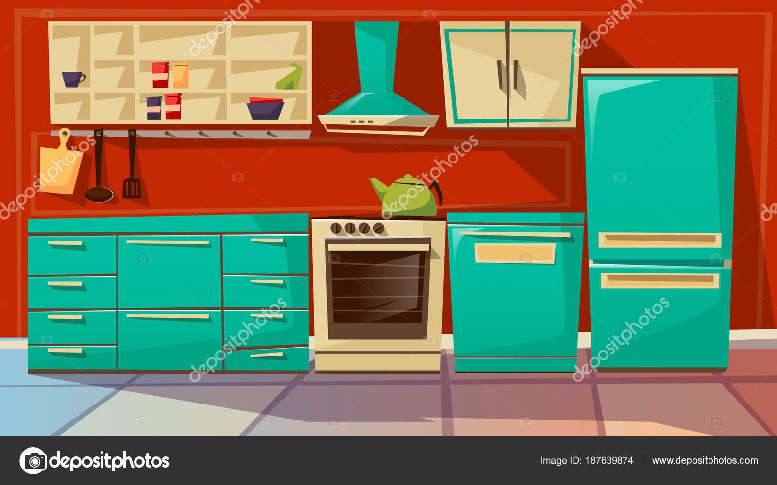 Dibujos muebles de cocina  Ilustracin de dibujos
