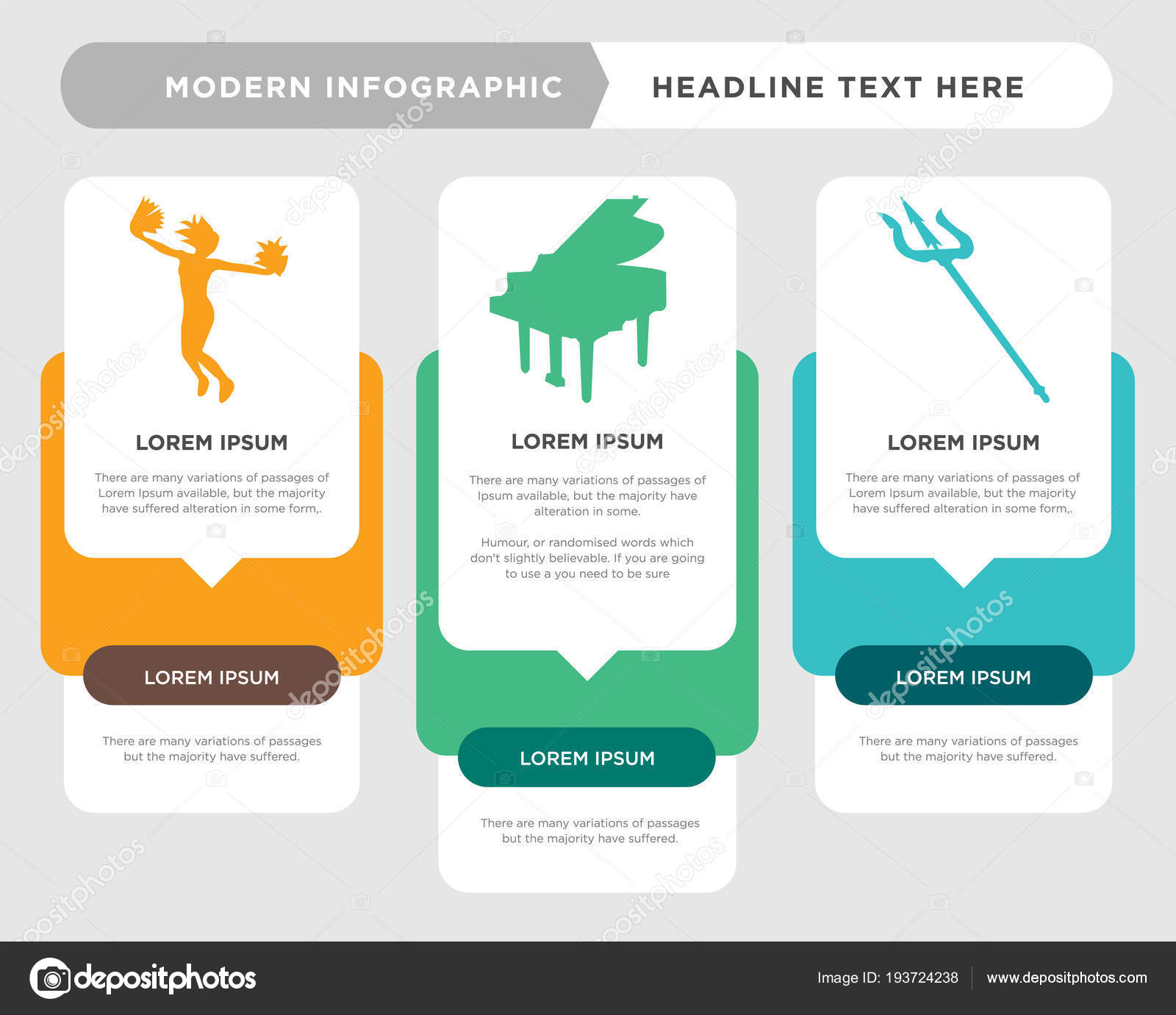 hight resolution of  the concept is option step with full color icon can be used for grand piano diagram infograph chart business presentation or web cheerleading vector