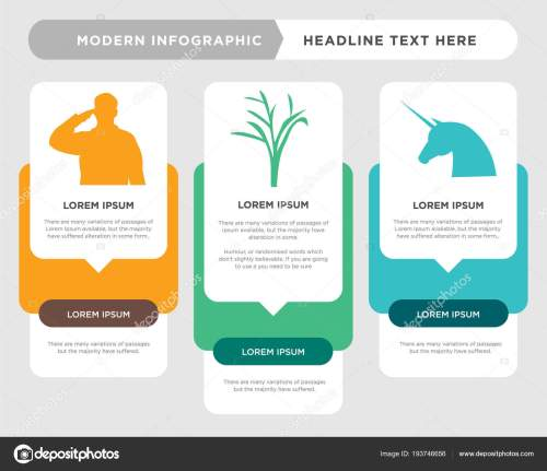 small resolution of unicorn business infographic template the concept is option step with full color icon can be used for elm tree diagram infograph chart business