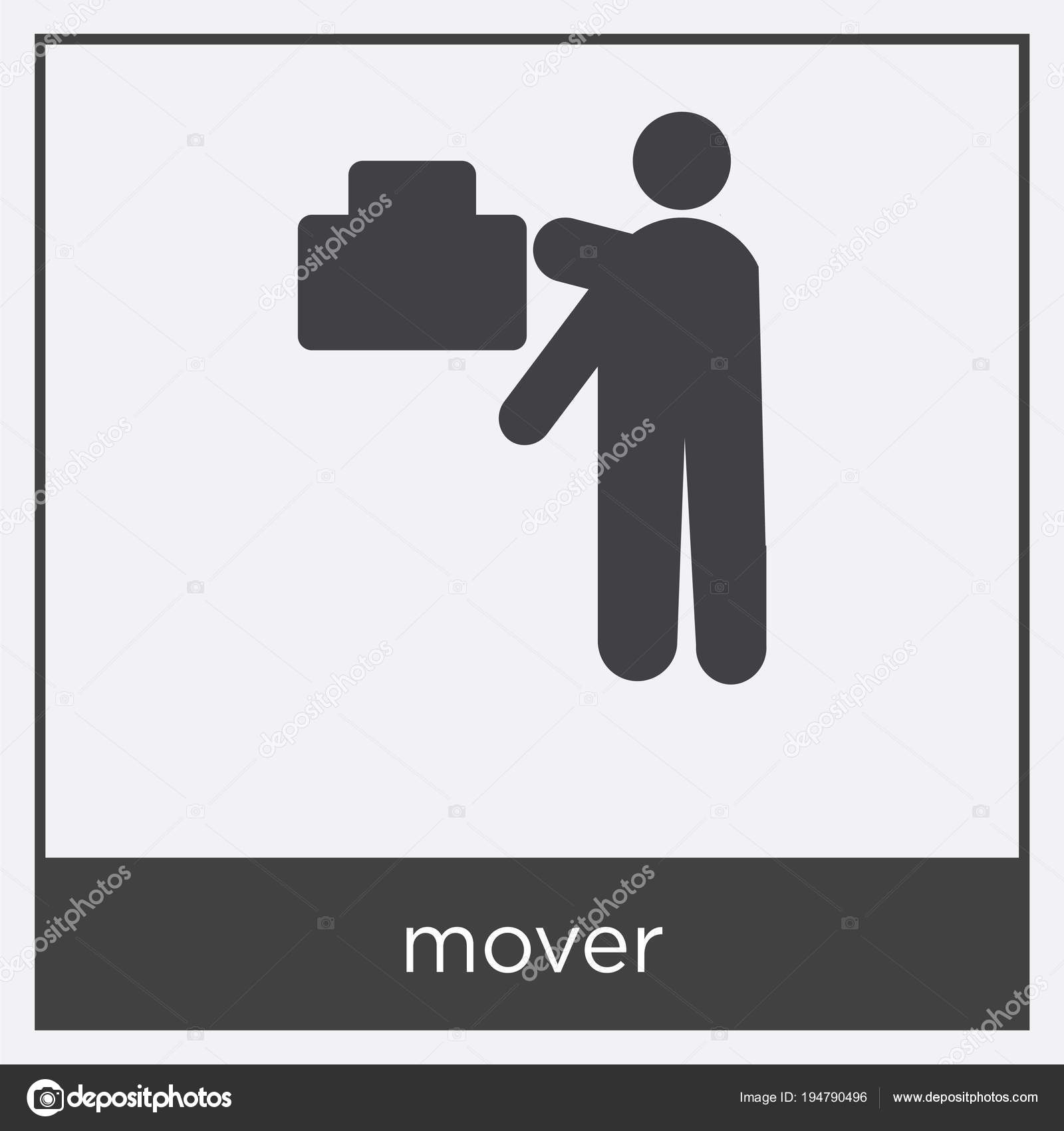mover icon isolated on