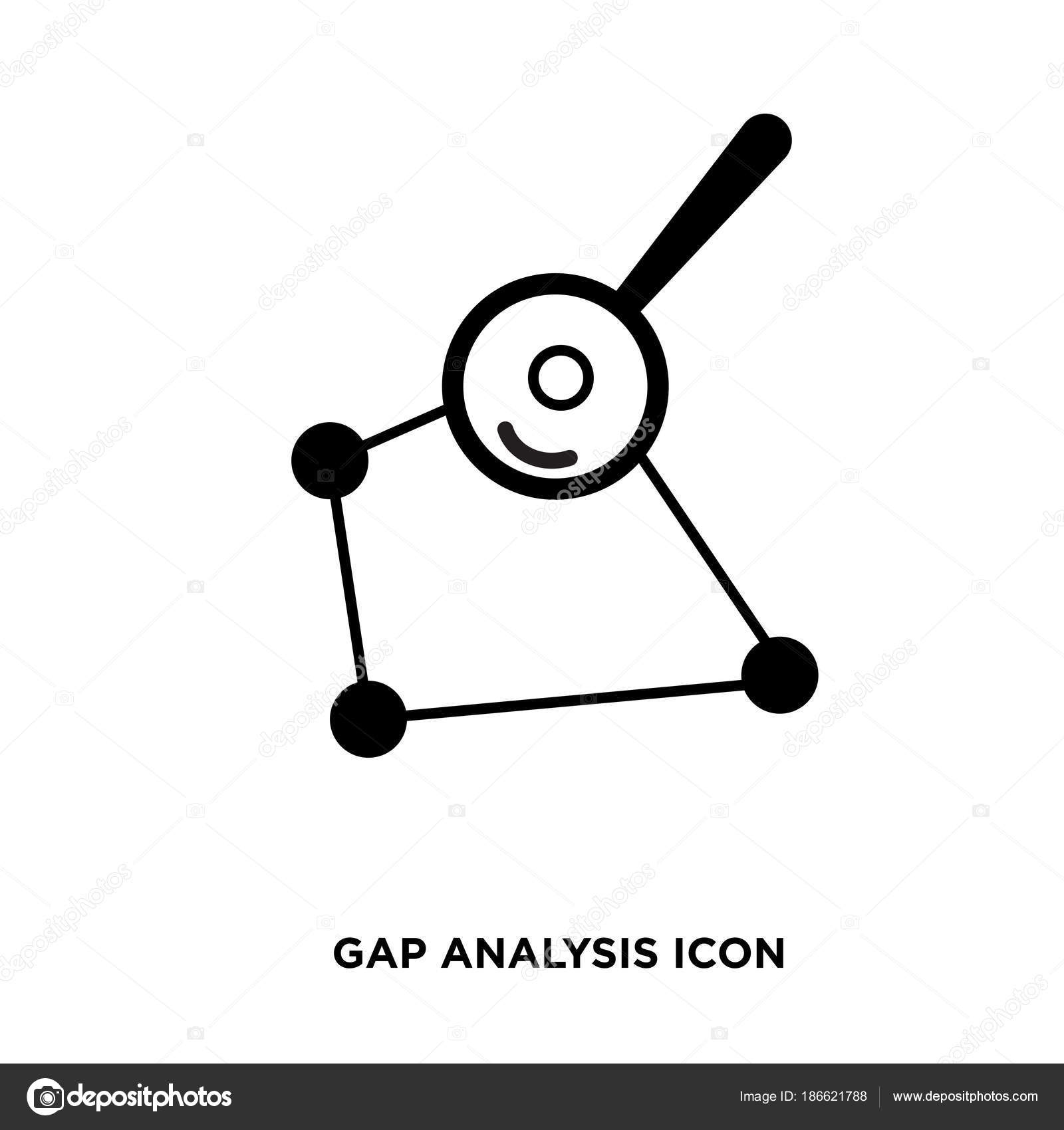 Gap analysis icon isolated on white background for your