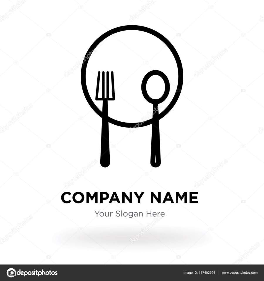 Plate Knife And Fork Company Logo Design Template Business
