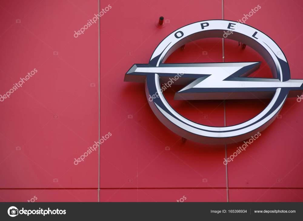 medium resolution of opel logo football stadium mainz stock photo