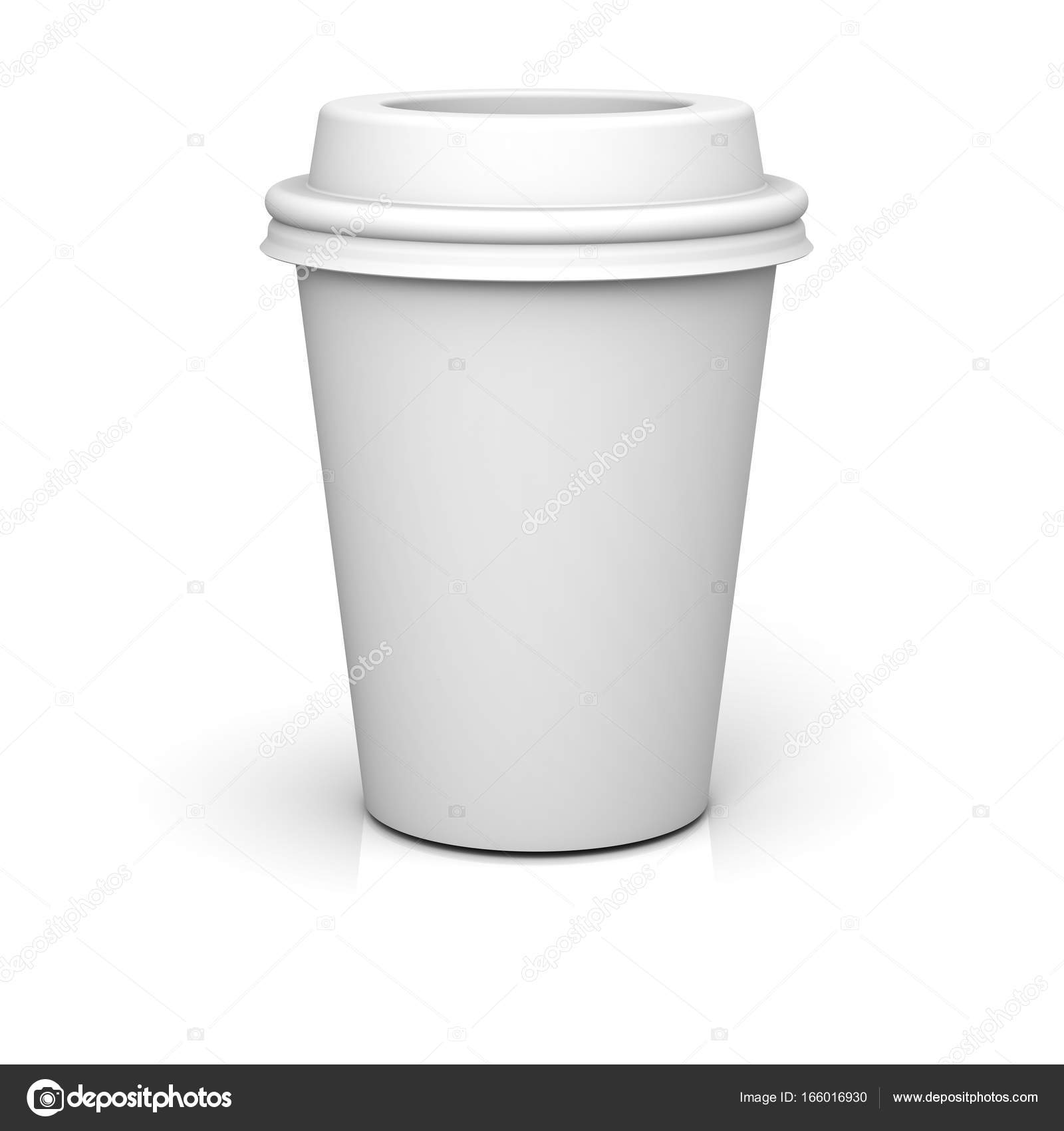 blank coffee cup isolated