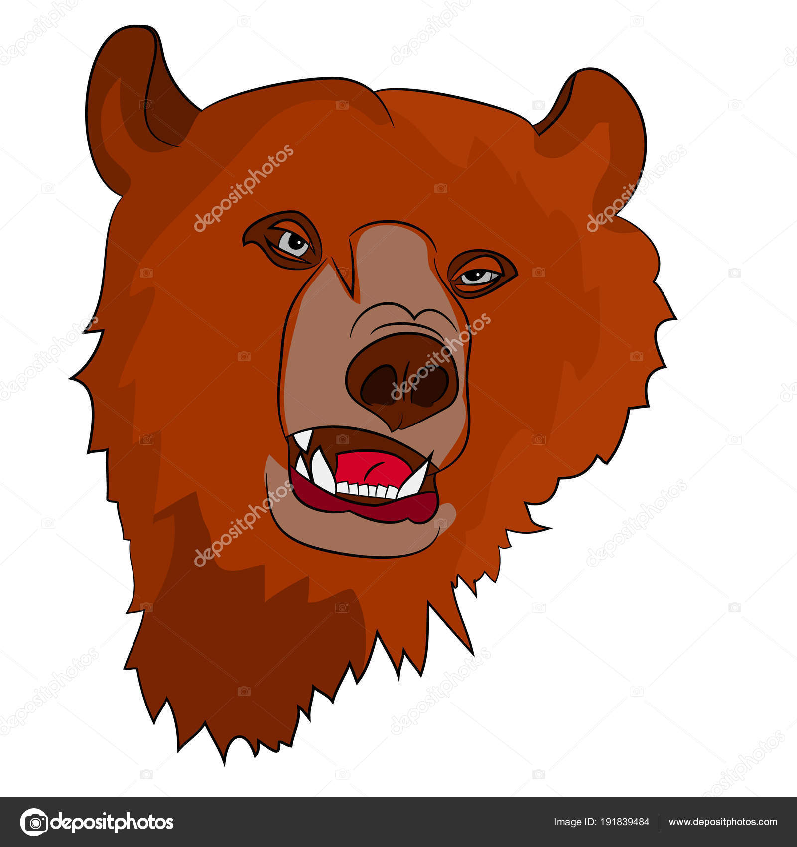 brown evil grizzly bear