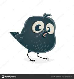 funny clipart baby crow stock vector [ 1600 x 1700 Pixel ]