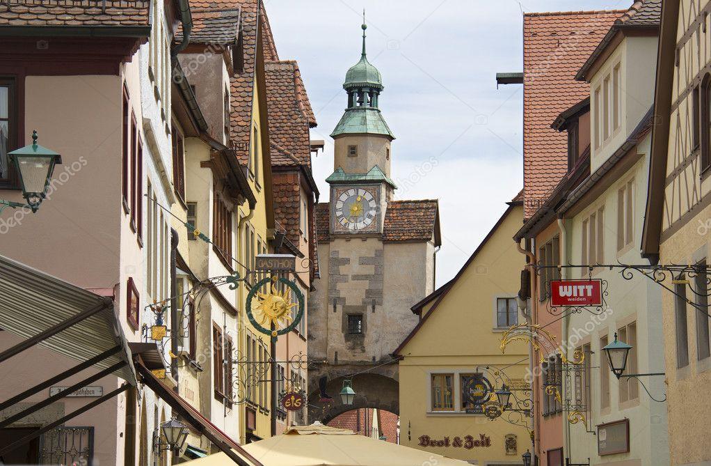 Rothenburg Ob Der Tauber Rathaus Germany Stock Editorial
