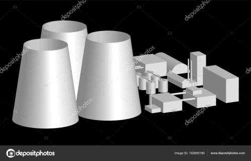 small resolution of 3d model factory layout power station in an projection 3d illustration of industrial building or factory over black background nuclear power plant layout