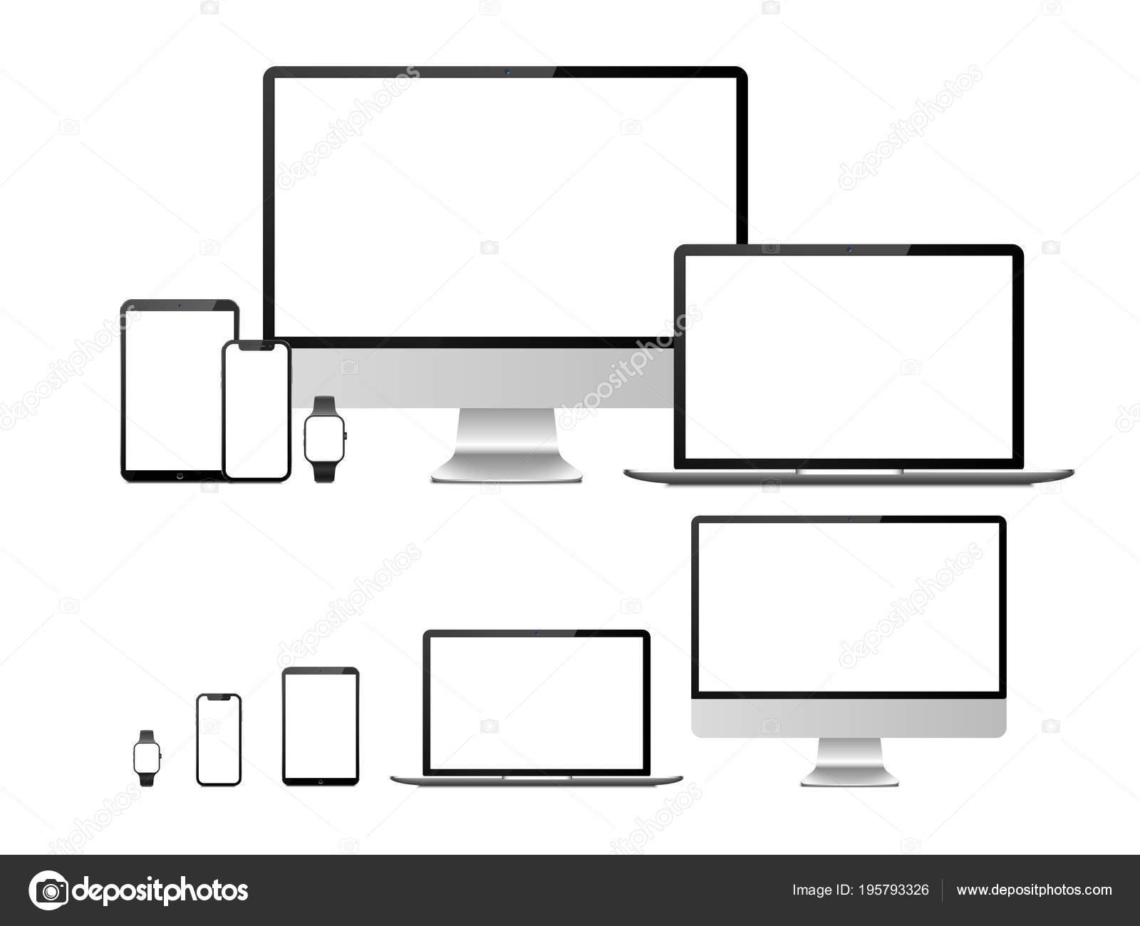 computadoras laptop tablet smartphone y dispositivo de