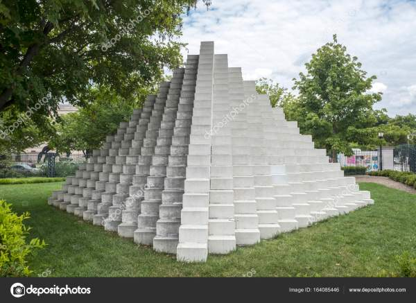 Pyramid Structure In National Of Art Sculpture