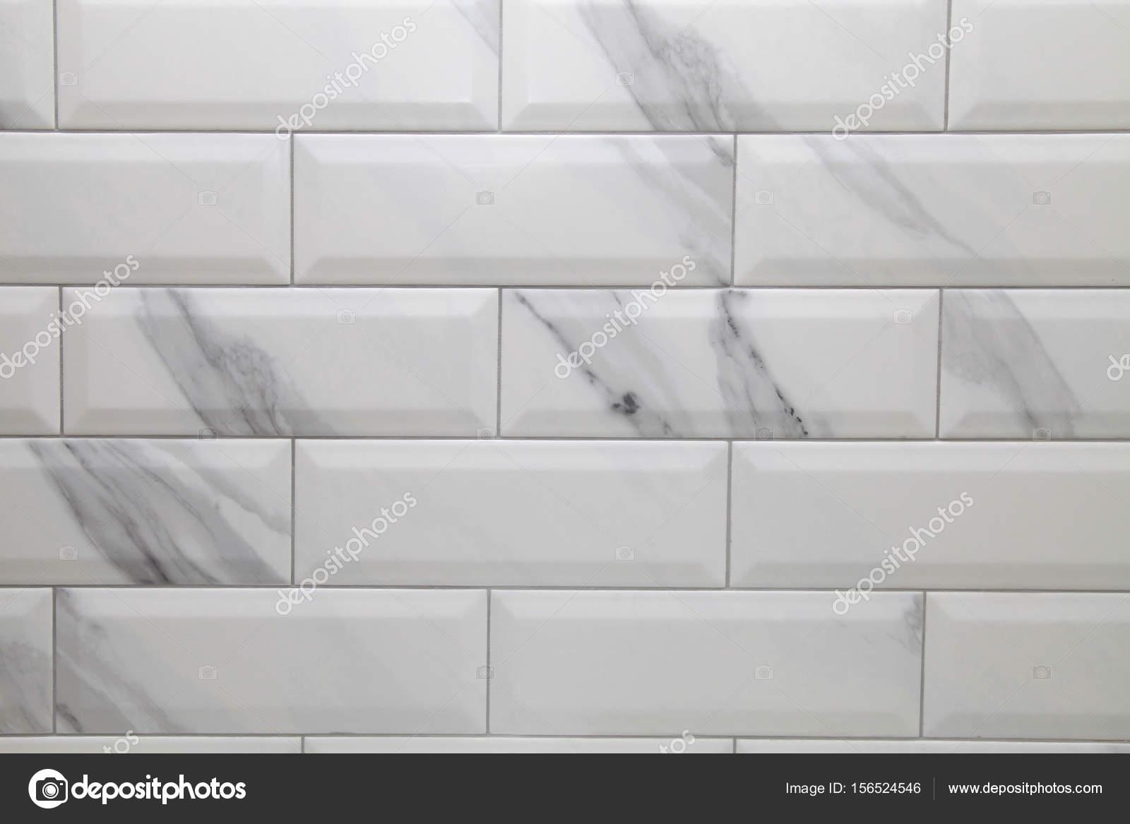 piastrelle in ceramica della metropolitana bianca sfondo