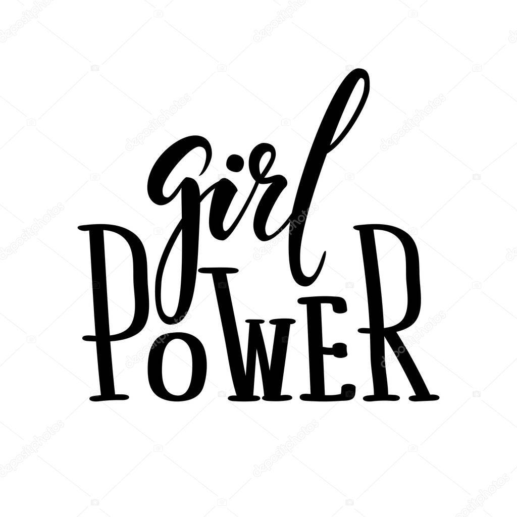 Power Girl Lettrage De Plume Calligraphie Et Brosse