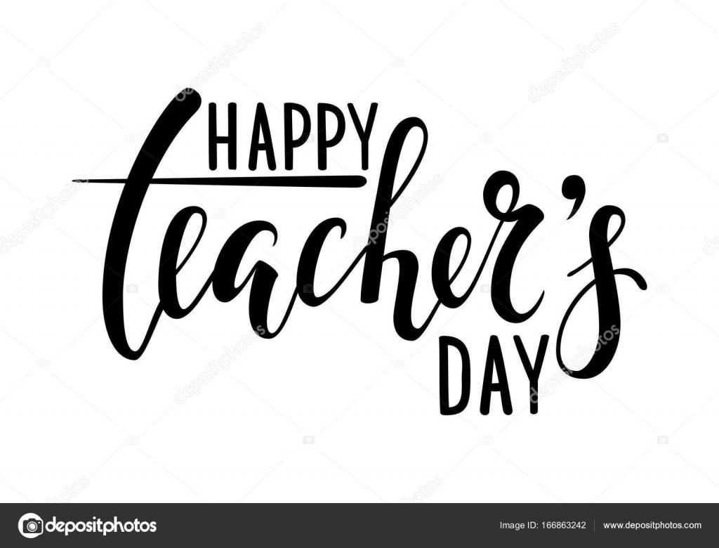 Happy Teacher S Day Hand Drawn Brush Pen Lettering