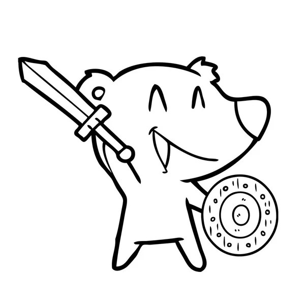 boy with scooter cartoon coloring page — Stock Vector