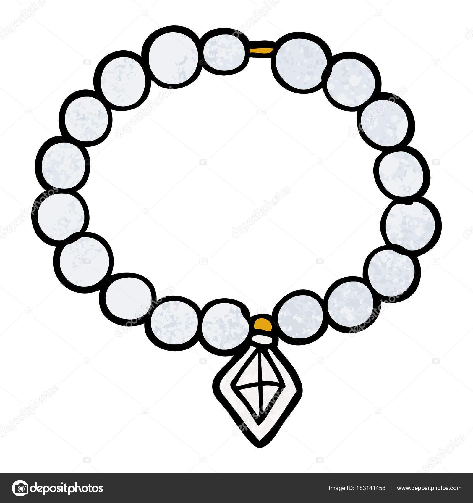 Illustration Vectorielle Collier Perle Dessin Animé