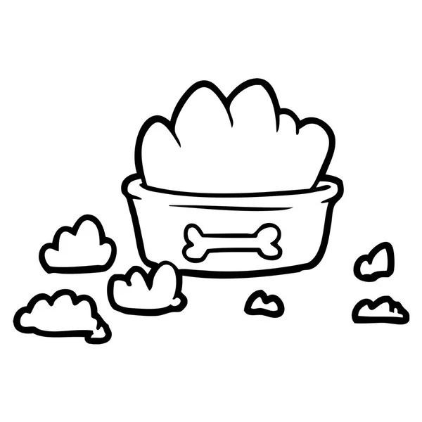 nourriture pour chien dessin animé — Image vectorielle