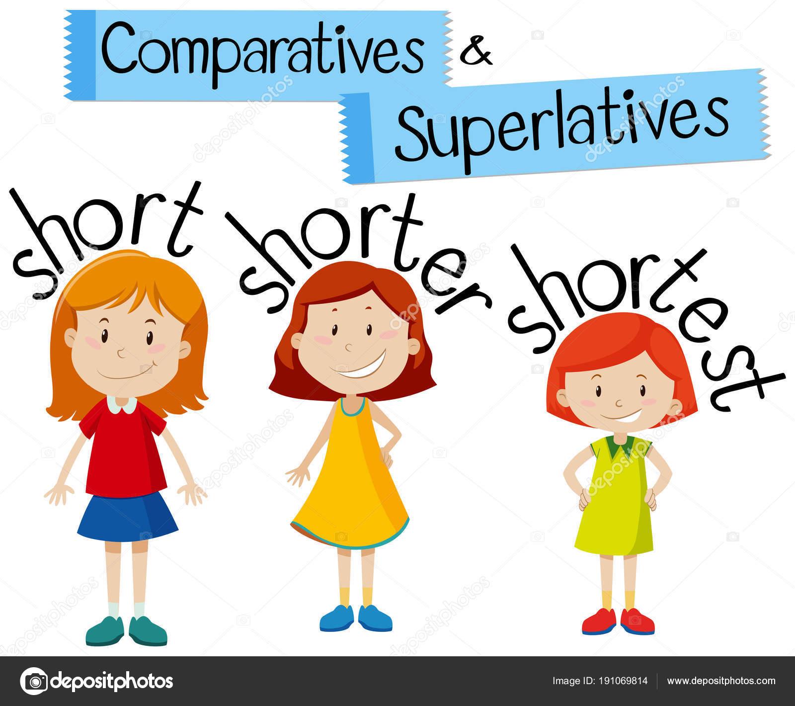 Comparativos Y Superlativos Para Palabras Cortas