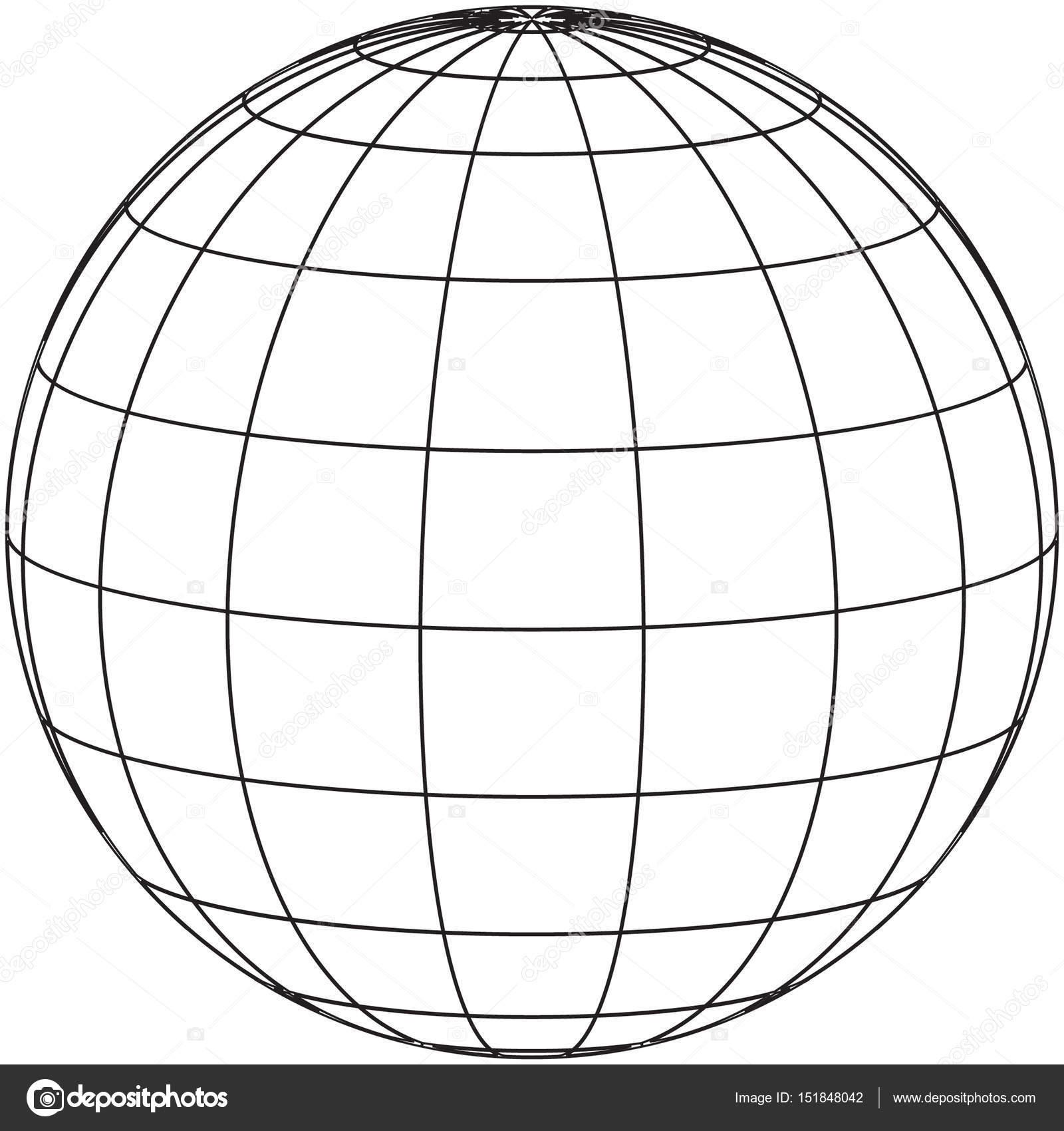 Concetto del globo filo disegno — Foto Stock © jamesstar