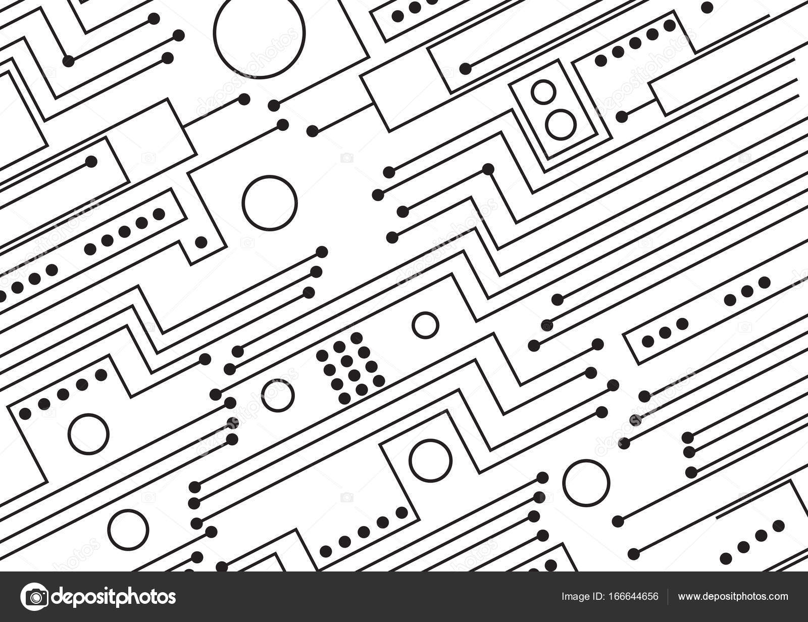 Computer Circuit Board Illustration
