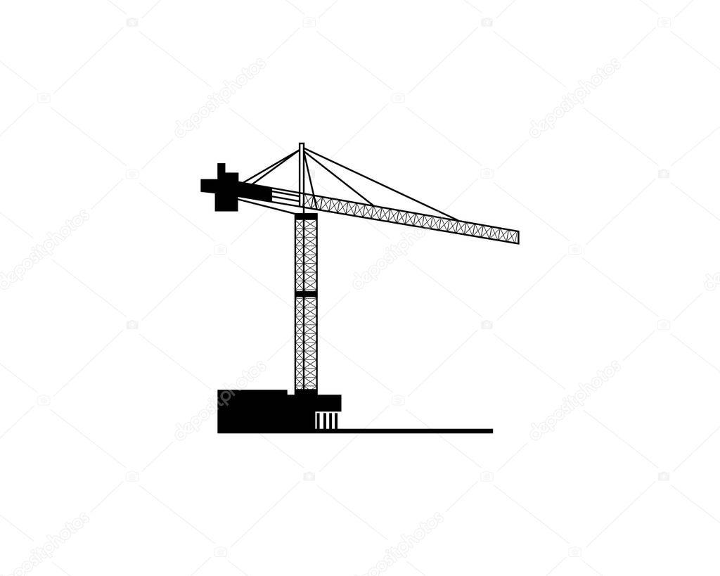 Modello di disegno di illustrazione di gru — Vettoriali