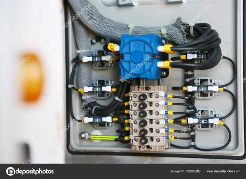 small resolution of electrical terminal in junction box and service by technician electrical device install in control panel for