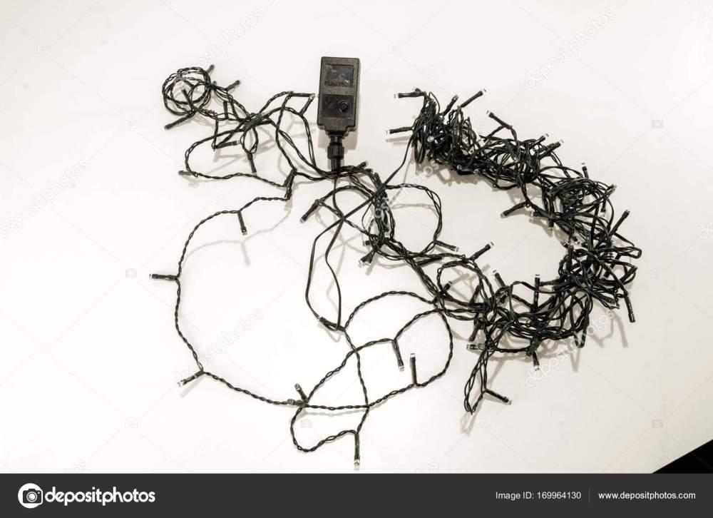 medium resolution of tangled led christmas lights stock photo