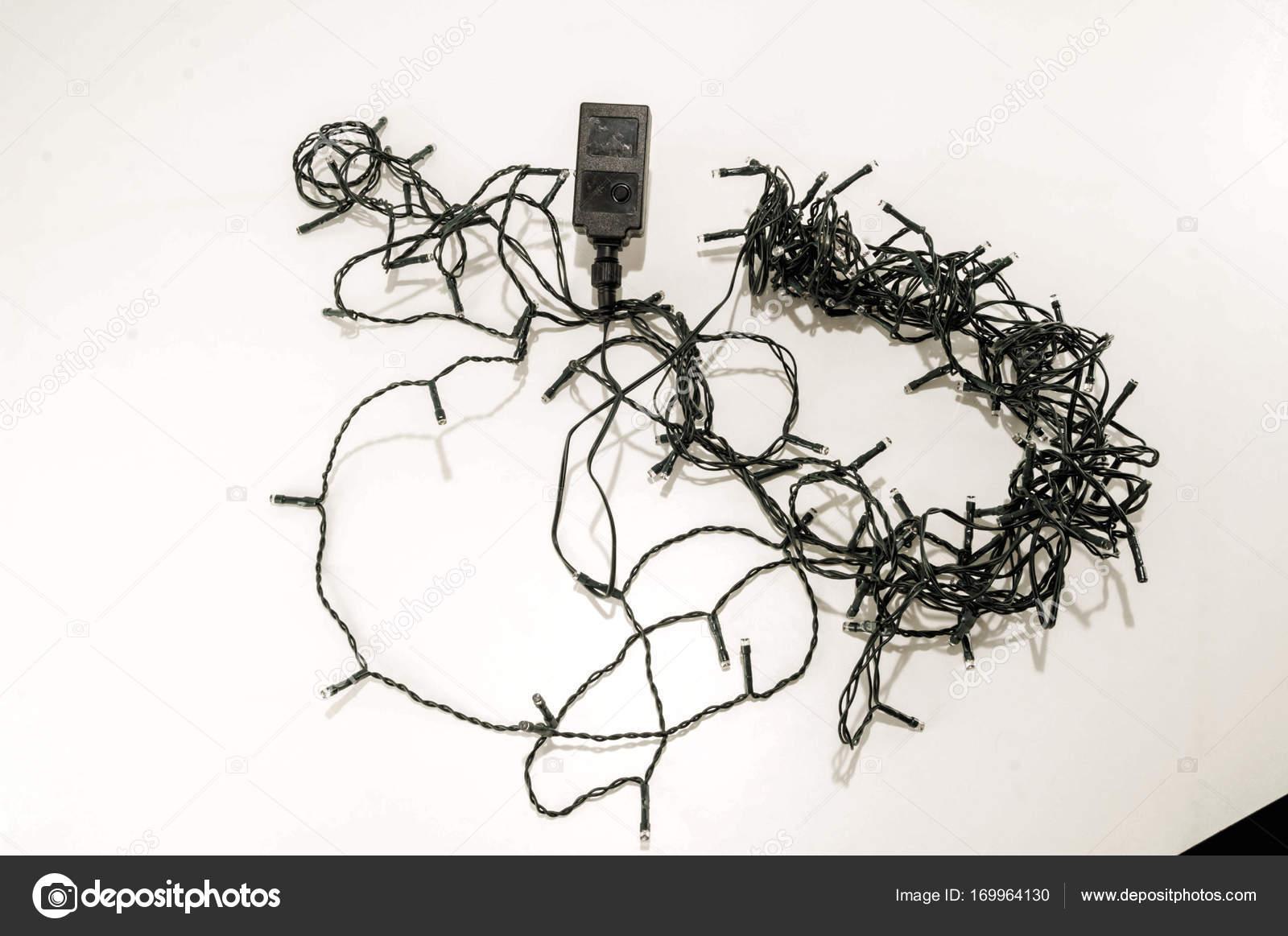 hight resolution of tangled led christmas lights stock photo