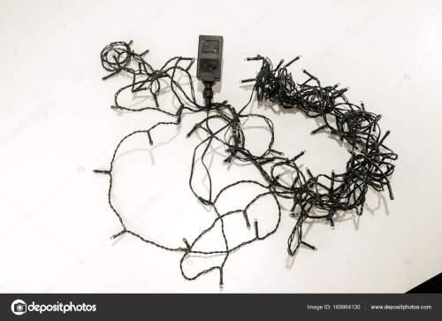 small resolution of tangled led christmas lights stock photo