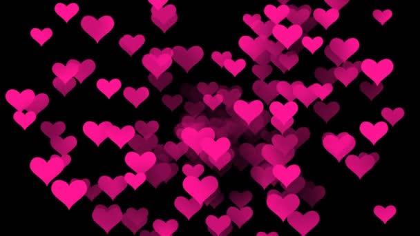 Rosa Liebe Herzen animierten Hintergrund in 4k