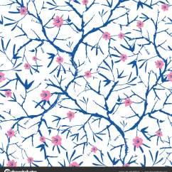 Navy Blue Kitchen Decor Home Depot Packages 矢量海军蓝色 粉色和白色盛开的樱花bracnhes 绘制纹理 无缝的重复模式 无