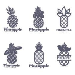 ᐈ Pineapple stencil stock vectors Royalty Free pineapple logo illustrations download on Depositphotos®
