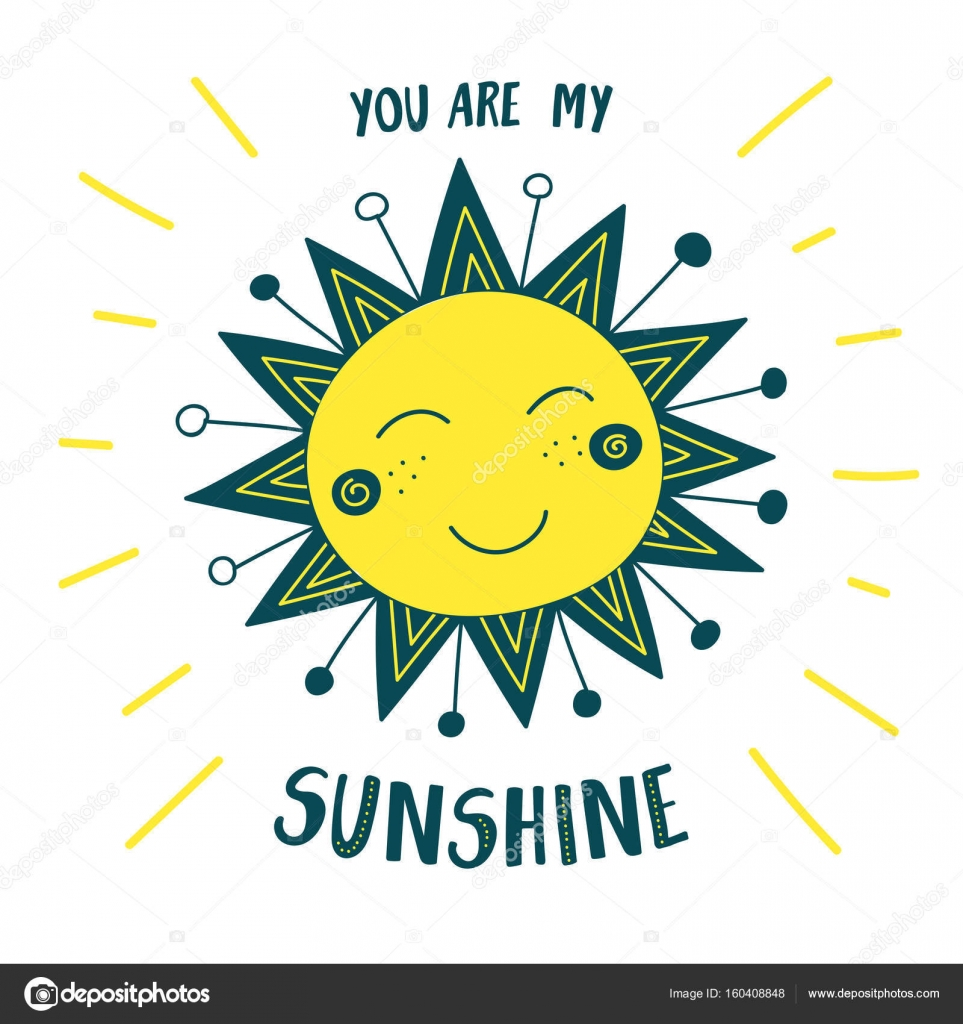 Cute Sun Card You Are My Sunshine