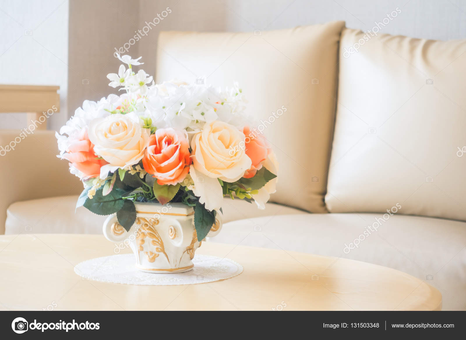 living room flower vases side tables for with drawers vase on table decoration in area interior stock beautiful photo by mrsiraphol