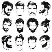 imgenes siluetas de peinados