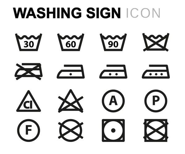 Set of washing symbols — Stock Vector © Tribaliumivanka