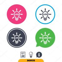 Led light lamp icon.  Stock Vector  Blankstock #129323970