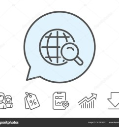 global search icon world or globe sign website search engine symbol report sale coupons and chart line signs download group icons editable stroke  [ 1024 x 892 Pixel ]