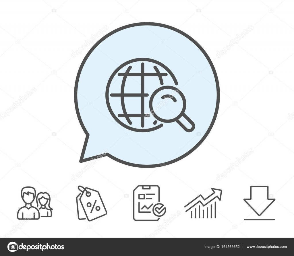 hight resolution of global search icon world or globe sign website search engine symbol report sale coupons and chart line signs download group icons editable stroke