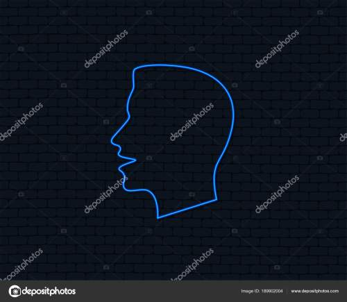 small resolution of neon light talk speak icon loud noise symbol human talking stock vector