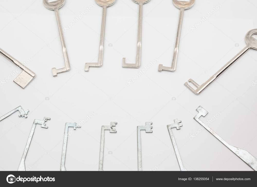 medium resolution of an lock pick stock photo