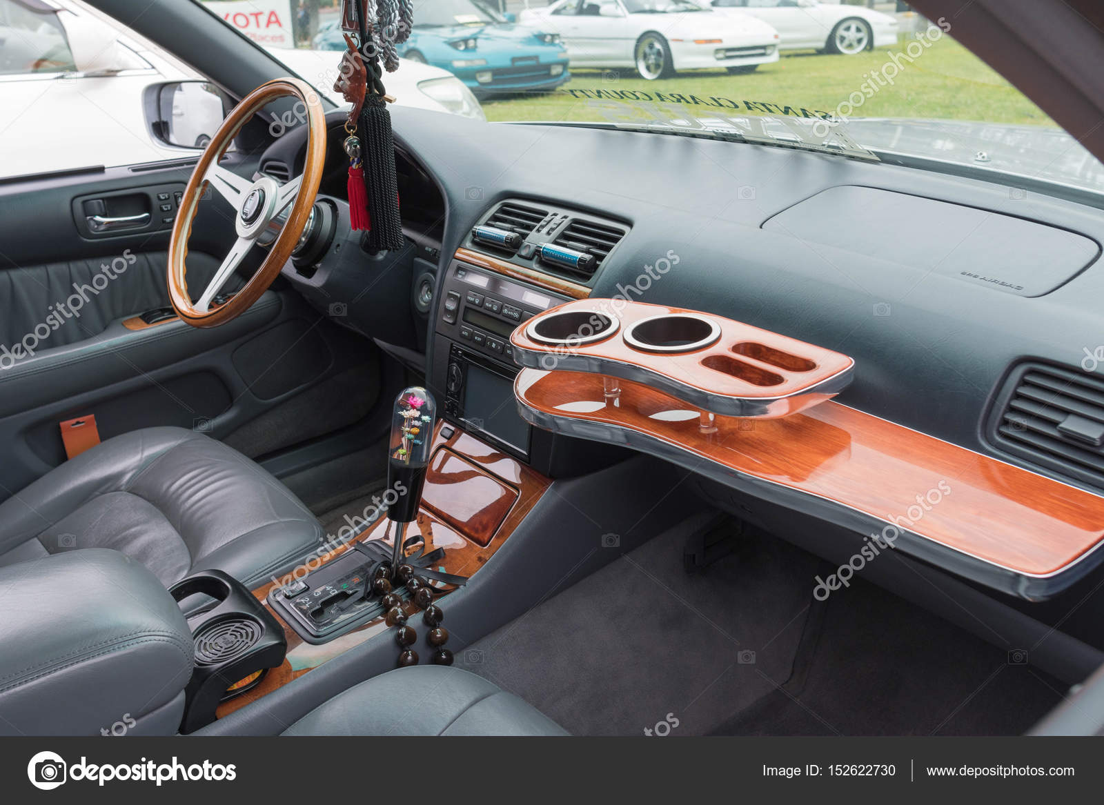 hight resolution of lexus ls 400 interior on display stock photo
