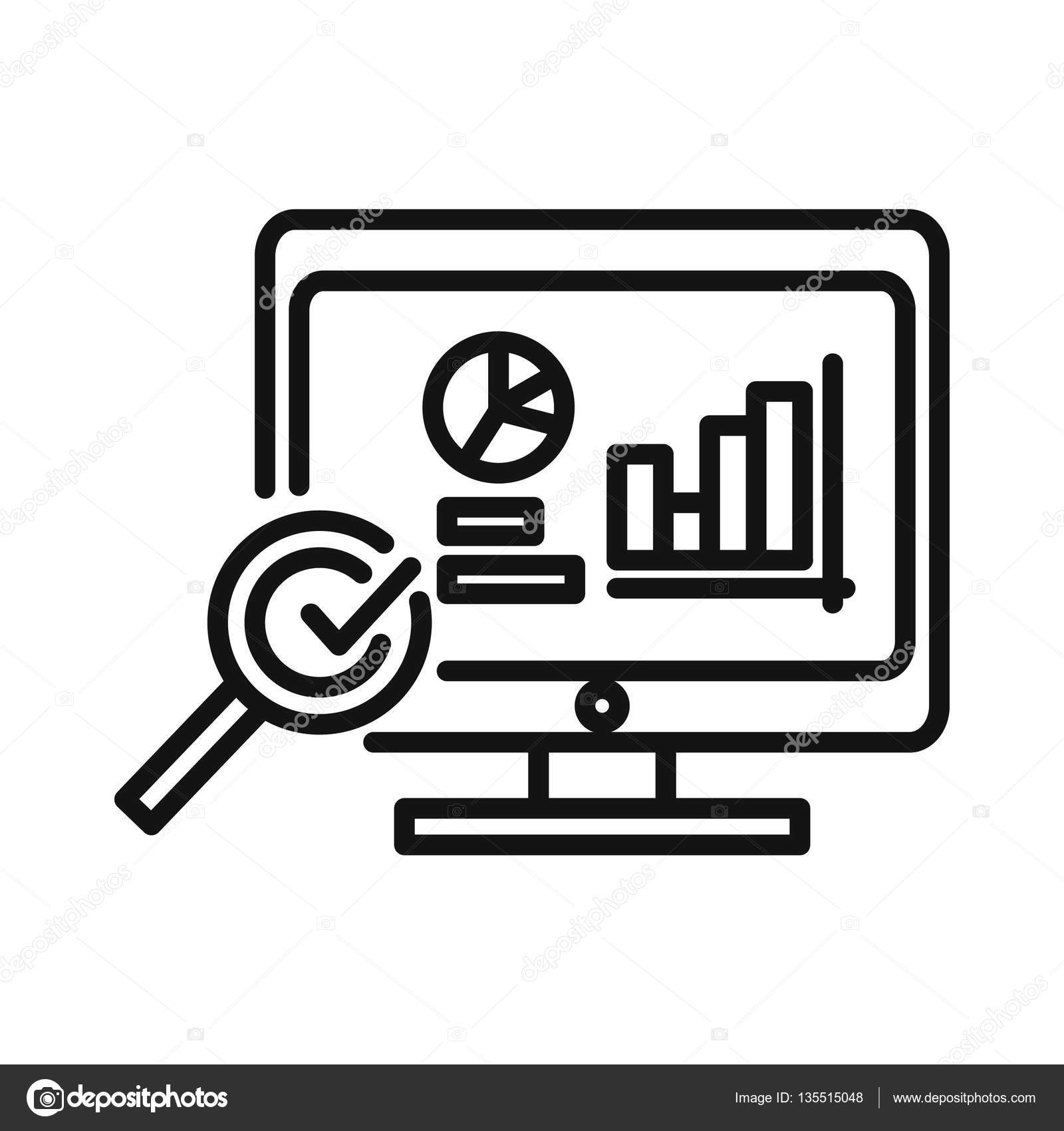monitoring project data icon — Stock Vector